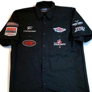 Polaris Racing Button Down Short Sleeve Shirt